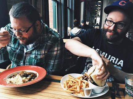The Aarons enjoy Nana Tino's Pot Roast and the  French Dip. PHOTO BY RYAN RUSSELL