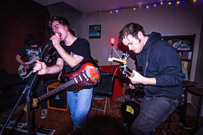 Meridian Guide performs at The Pitt. PHOTO BY EMMA HARTWELL (Note: This photo in our print edition was incorrectly identified as another band, and by another photographer. We apologize for the photo error.)