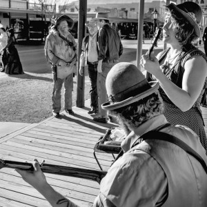 The band performing in Tombstone, AZ. Photo by Dotan Saguy