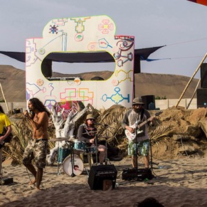 Lucid Afterlife performs at the Onvi festival in the beach town of Chilca, near Lima, Peru. COURTESY PHOTO