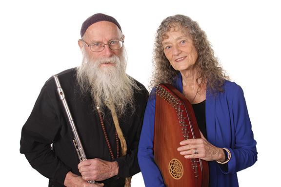 Dean & Dudley Evenson flute harp web
